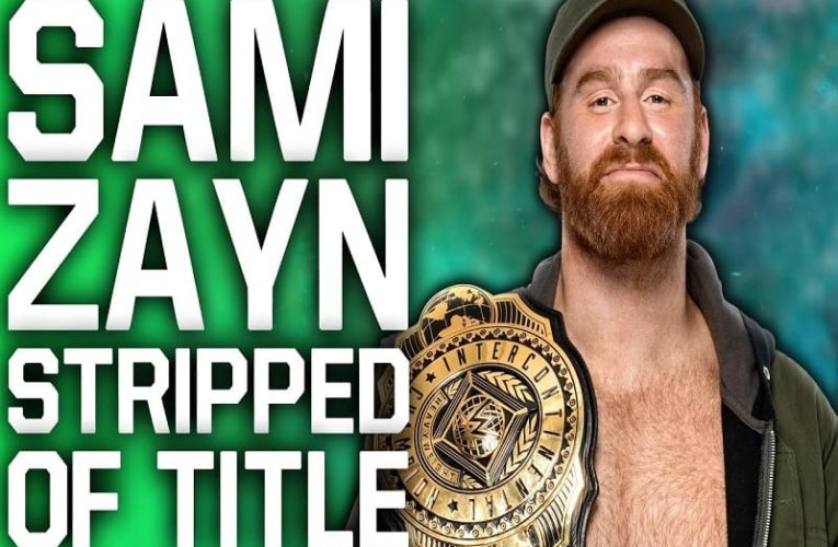Sami Zayn stays home and stripped of Intercontinental Championship